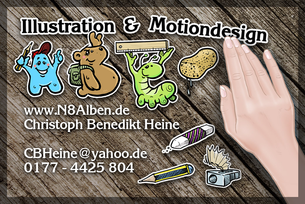 Visitenkarten Cbheine Illustration Motiondesign