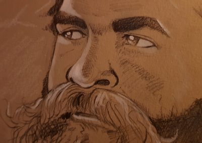 Beard-closeup