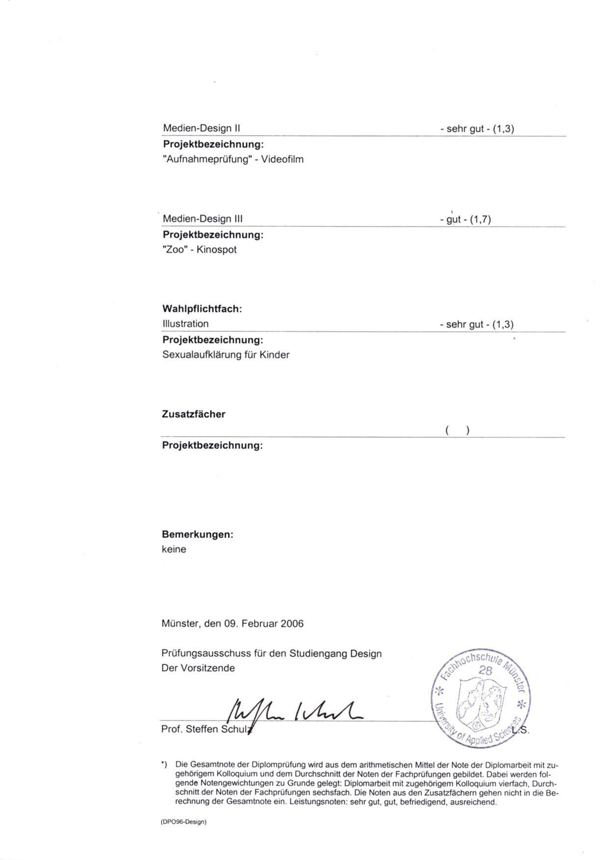 Diplomzeugnis Seite 2